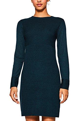 edc by ESPRIT Damen Kleid 107CC1E009 Grün (Dark Teal Green 375), Large