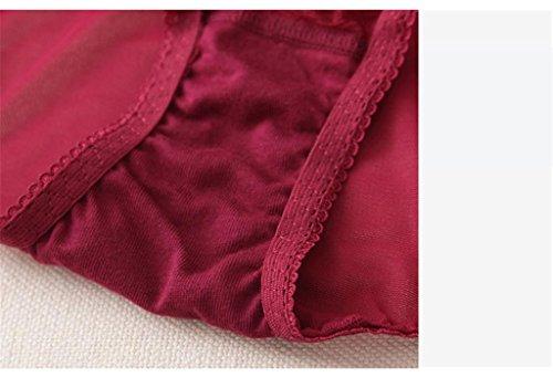 KLDDZQ Soutiens-gorge de sport Aux femmes Ensemble de Soutien-gorge & Culottes Couleur Pleine Soutien-gorge en Dentelle Blanc Noir Rouge red