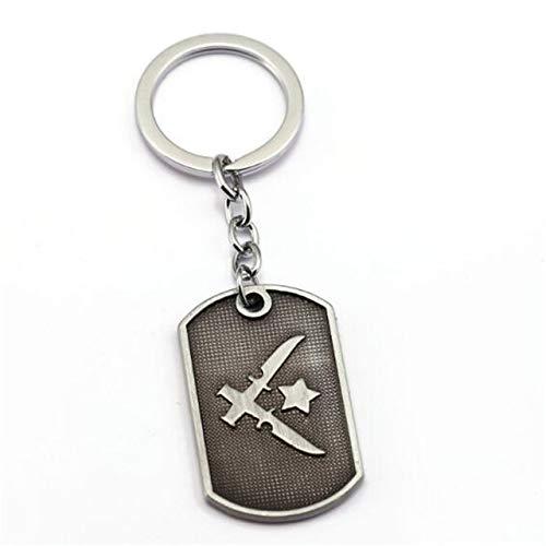 Inveroo Spiel Counter Strike Schlüsselanhänger Cs Go Metal Hund Tag Schlüsselanhänger Schlüsselanhänger Schlüsselanhänger Männer Schmuck Kollektion Chaveiro Anime - Leder-counter
