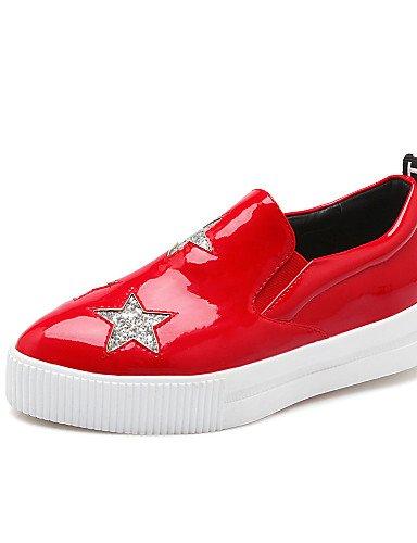 Cn34 Prata Imitação Zq Sapatos Vermelho De Outddor Uk3 B¨¹ro Preto Baixos Preto Eu35 Chinelos Femininos L Calçados Planalto Ssig Trepadeiras Couro us5 B4wa1C