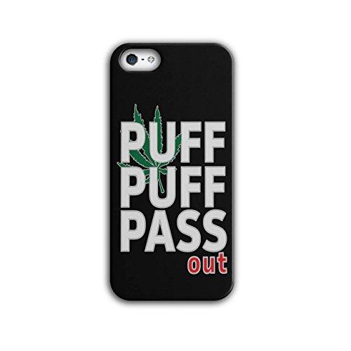 Wellcoda Puff Gras Marihuana Rasta Hülle für iPhone 5 / 5S Ganja Rutschfeste Hülle - Slim Fit, komfortabler Griff, Schutzhülle - Kraut Puffs