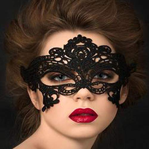 Ball Acht Kostüm - Fanfan Lace Masquerade Maske Halloween Eyemask Venezianische Masken Sexy Lady Girl Spitze Augenmaske Für Halloween Kostüm Ball Carnival Party, Schwarz,8