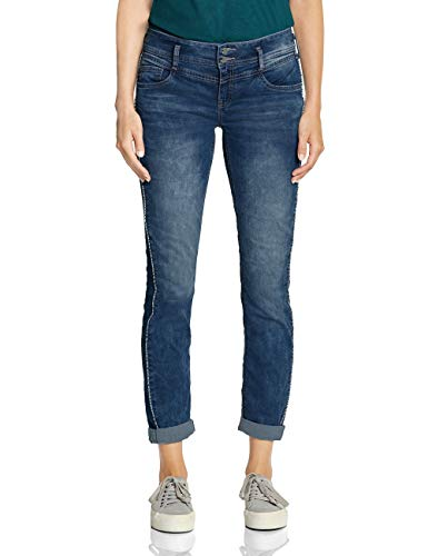 Street One Damen 372412 Jane Casual Fit Slim Jeans, Blue Heavy Acid wash, W33/L30 (Herstellergröße:33) -