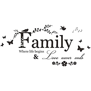 Handlife Home Kitchen Artwork Wall Stickers, Art Sticker Decal Mural, Multi Styles, Funny Humorous Comments, Family Flower Butterfly Art Vinyl Quote Wall Stickers Wall Decals Home Decor