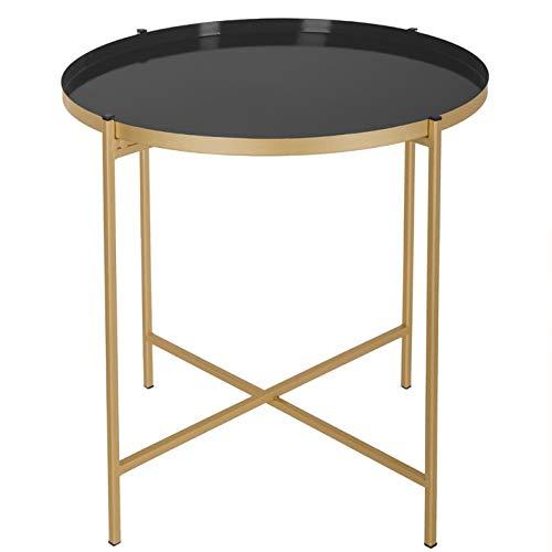 Beistelltisch KYLIAN schwarz gold Metall Couchtisch Nachttisch