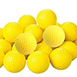 Golf Balls Training Golfer Club 10pcs Yellow PU Foam