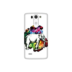 The Racoon Lean Cublistic Pachyderm hard plastic printed back case / cover for LG G3 Beat