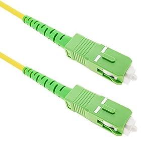fibra optica: Cablematic - Cable de fibra óptica SC/APC a SC/APC monomodo simplex 9/125 de 15 ...