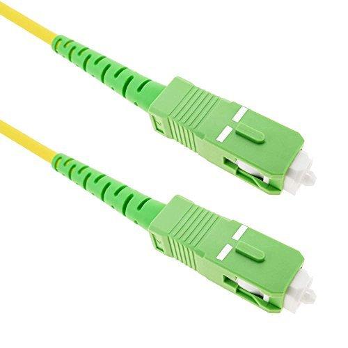 Cablematic - Cable de fibra óptica SC/APC a SC/APC monomodo simplex 9/125 de 15 m