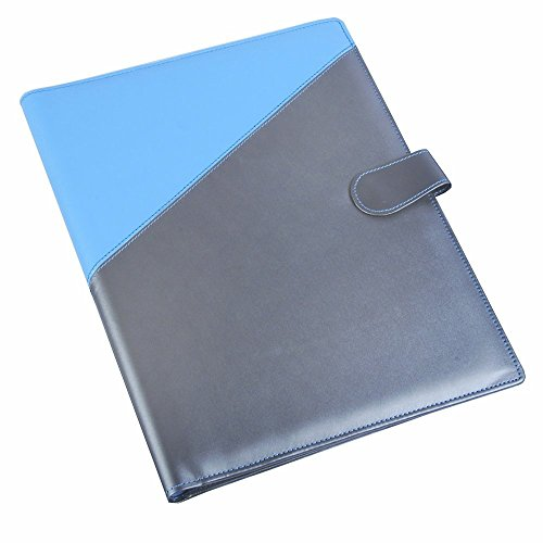 buy coi blue  silver and black  yellow leatherite file