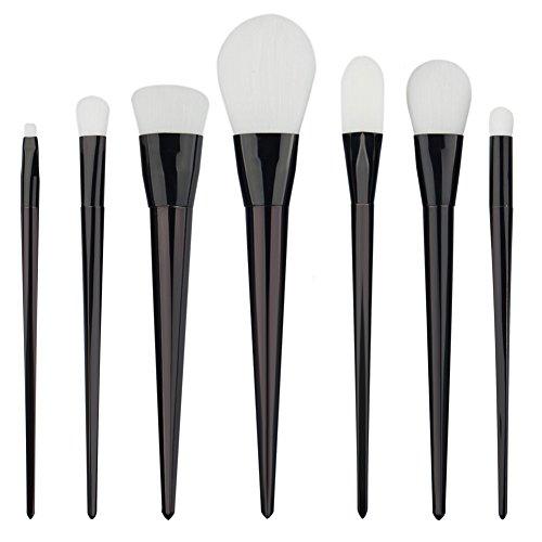 Hrph 7pcs Set Pinceaux de Maquillage Magenta Cosmétiques Fondation Poudre Blush Fard à Paupières Eyeliner Lip Sourcil Blush