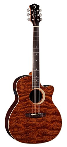 LUNA GUITARS WL BUBINGA   GUITARRA ELECTROACUSTICA  COLOR MARRON