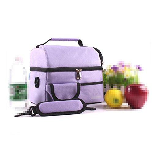 Outdoor La Protezione Ambientale A Perfetta Tenuta Facile Da Pulire Quadrato Borsa Per Il Picnic ,Purple Purple