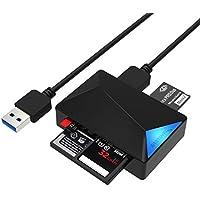 Sabrent USB 3.0 Super Speed 4 fente Lecteur de Carte de Mémoire pour Windows, Mac et Linux - Prend en charge les SD, SDHC, SDXC, MMC / MicroSD, T-Flash / MS, MS PRO Duo / CF et plus (CR-BMC3)