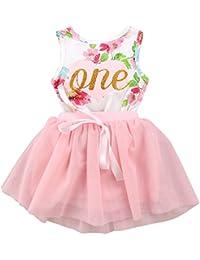 43db6b502 Amazon.co.uk  3 Stars   Up - Dresses   Baby Girls 0-24m  Clothing