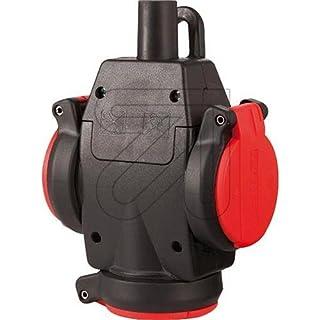 ABL Sursum 2KT-Schuko-3fach-Kupplung 1173543 rt/sw 2,5 qmm Schutzkontaktkupplung 4011721161945