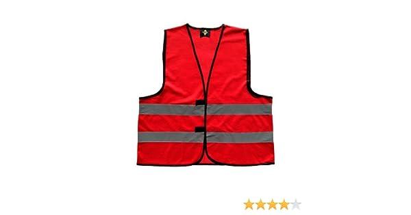 rot 5XL Korntex LSH0001882G0128F0025 Praktische Unisex Funktionsweste//Warnweste mit Reflektionsstreifen in 7 versch Farben WW100