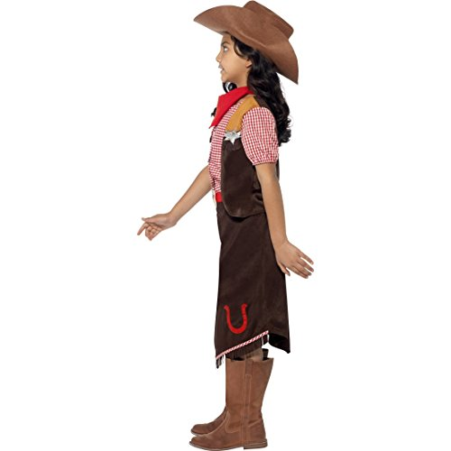 Kinder Westernkostüm Sheriff Kinderkostüm S 4-6 Jahre 110-128 cm Western Cowgirlkostüm Cowgirl Kostüm Mädchen Kostüme Fasching Indianerparty Faschingskostüm Wilder Westen Rodeo Mädchenkostüm