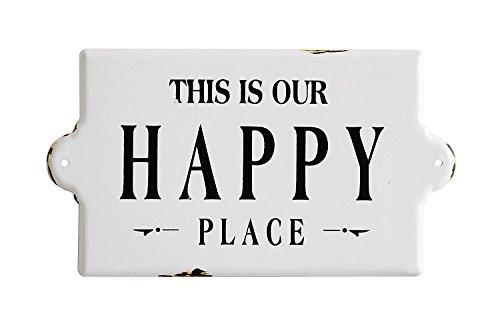 Creative Beeinflußt Dies ist Unser Happy Place Rustikaler Stil Wandschild -
