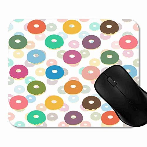 -Bäckerei-Schaumgummiringe weiß Rutschfeste Gummi Basis Mouse pad, Gaming und Office mauspad für Laptop, Computer PC 1H1663 ()