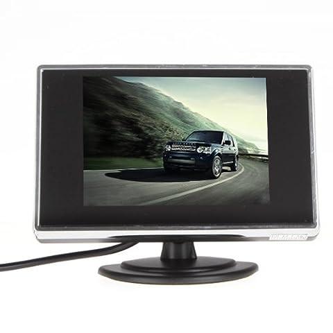 BW Écran LCD couleur de caméra de recul et 3,5 pouces