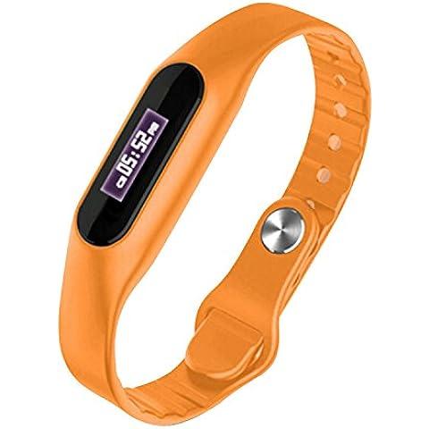 COOSA Bluetooth 4.0 sanos pulsera impermeable IP57 Con la pantalla táctil LCD SmartWatch rastreador de ejercicios podómetro deporte Pasos pasómetro pulseras para IOS y Android