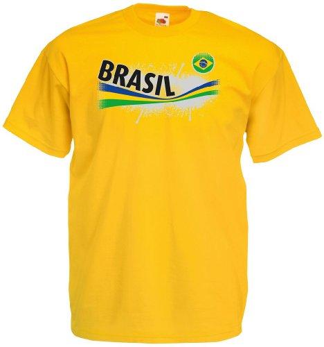 Brasilien Herren T-Shirt Vintage Trikot von S-XXXL|g-XL