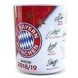 FC Bayern München Unterschriften Tasse 18/19 - Plus gratis Aufkleber Forever München