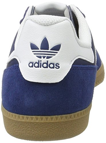adidas Leonero, Sneakers Basses Homme Bleu (Mystery Blue /ftwr White)