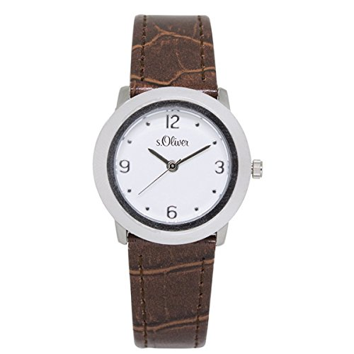 s. Oliver Women's Quartz Watch with Black Dial Analogue Display Quartz Leather So 50-15065-28 LQR