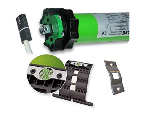 Sp-lager (smarotech® Rollladen-Nachrüstset: Universal-Rohrmotor Selve SP2/20 inkl. Einbruchschutz durch patentierte SecuBlock, 4-Kant-Lager, Anschlusskabel und SW 60 Adapter. (SP 2/20 mit 2 St. SecuBlock))