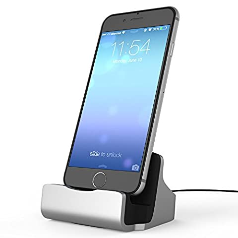 shenzoo® Apple iPhone X 8 7 6 6S SE Dockingstation in silber