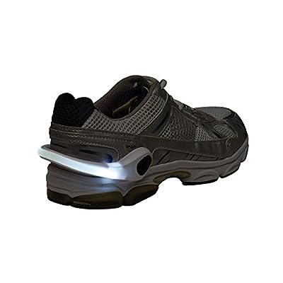 LED Schuhclip weiss 2 Stück im Set / Reflektor LED weiss / Das Schuhlicht leuchtet in weiss für Schuhe / Die Sicherheit für Kinder im Straßenverkehr, Joggen , Radfahren oder auf dem Schulweg Universal