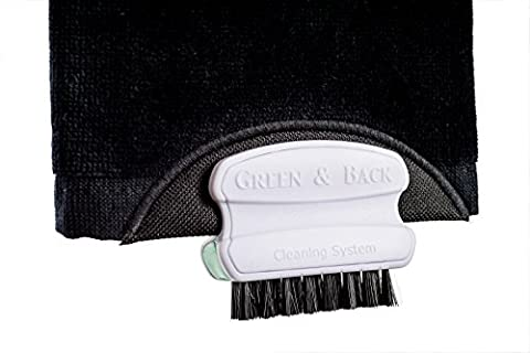 Tri-Fold Golf Towel and Steel Golf Brush - 2 In 1 Combination - Durable and Robust - Green And Back