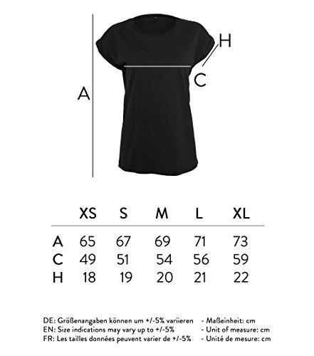 Ladies Shirt Oversize Tanktop just livin the dream - Schwarz & Weiß - umgeschlagener Ärmelsaum T-Shirt mit Motiv - Neu Schwarz
