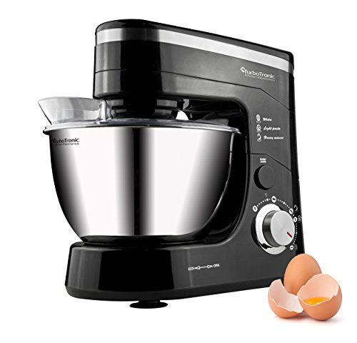 Retro Küchenmaschine Z-Chef 1200W 1,6 PS / 5L Rühr- und Knet-Maschine Teigkneter Schwarz