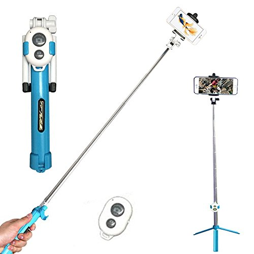 gcbtech Selfie Stick con treppiede, adattatore per cellulare, Bluetooth fernbedienung foto per fotocamera, iPhone, Android, Samsung e altri smartphone