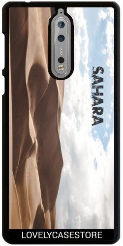 Hülle für Nokia 8 - Wüste Sahara Sky Blue Arid Dürre Düne Oase