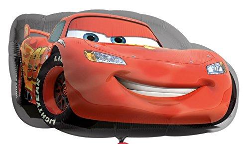 olienballon Luftballon - Cars Lightning McQueen Auto - Geburtstag Kindergeburtstag Deko - geeignet zur befüllung mit Luft oder Helium Gas ()
