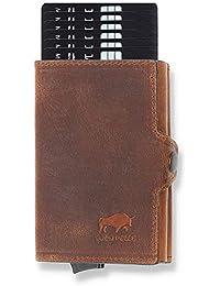 Solo Pelle Kartenetui | Kreditkartenetui | Leder Geldbörse Slim Wallet Portmonee | Geldbeutel mit RFID Schutz für bis zu 11 Karten Model: Mech
