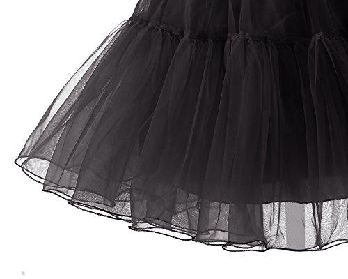 Bridesmay Kurz Retro Petticoat Rock 1950er Vintage Tutu Ballett Unterkleid