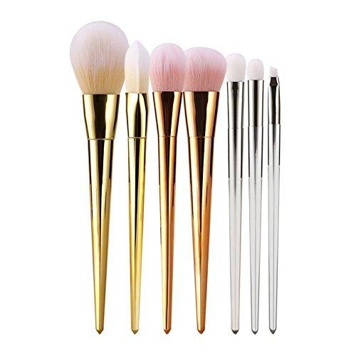 Tinabless 7pcs Pinceaux de Maquillage Set-Professionnel Make Up Brosse pour le Visage Poudre Bronzante-Beauté Cosmétique Eye Liner Sourcil Ombre Pro Concealer Fond de Teint Blush Brush Kits+Voyage Sac