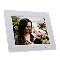 Honorall 8'' Ultrathin HD TFT-LCD Digital Photo Frame Alarm Clock MP3 MP4 Movie Player with Remote Desktop