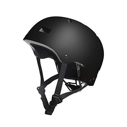 Vihir Erwachsene Fahrradhelm skaterhelm BMX fahradhelm Herren Damen Kinder Sport Helm für Männer & Frauen, Schwarz/L