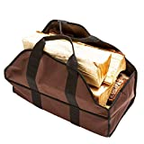 soundwinds Brennholz Carrier Canvas Log Bag Schwerlast Holz Carrier Faltbare Log Tasche mit bequemen Gepolsterten Griffe für Kamin Holz Halter Aufbewahrungstasche