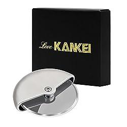 [Pizzaschneider] Love-KANKEI® Edelstahl Pizzaroller Pizza Cutter, Spülmaschinenfest
