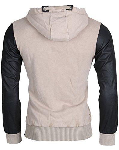 Felpa con cappuccio da uomo TAZZIO sweat-shirt giacca con cappuccio bizippo Biker Bison