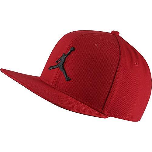 buy popular dae71 10eb1 Nike Jordan Pro Jumpman Snapback Chapeau Mixte Adulte, Gym Red Black, FR  Unique