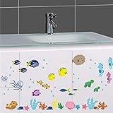 Zyzdsd Underwater Fish Stickers Muraux Animaux De La Mer Salle De Bains Toilettes Nursery Stickers Muraux Décor À La Maison Art Mural