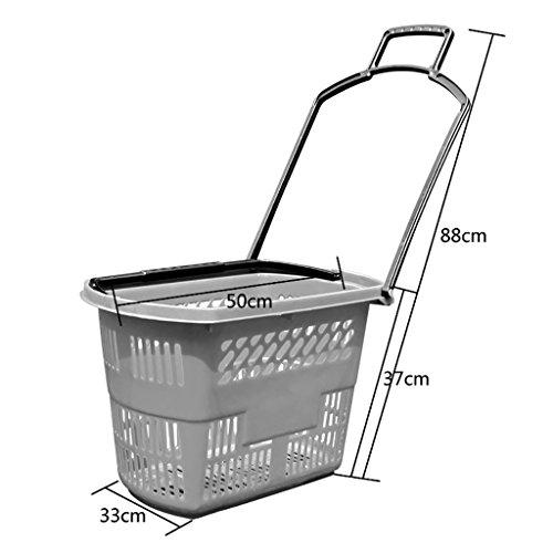Supermarkt Warenkorb Basket Vier-Rad-Schublade Kunststoff-Korb zu kaufen Plastic Warenkorb Convenience Store Warenkorb Küchenregale (Farbe : B) (Warenkorb Schubladen)
